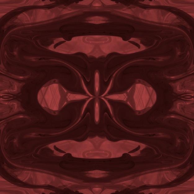 Pintura acrílica abstrata da textura vermelha brilhante da simetria Foto gratuita