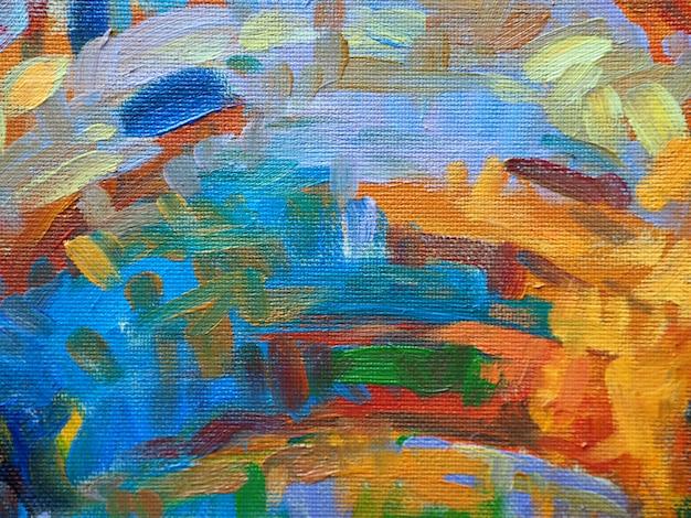 Pintura de óleo abstrata colorida do fundo das cores doces. Foto Premium