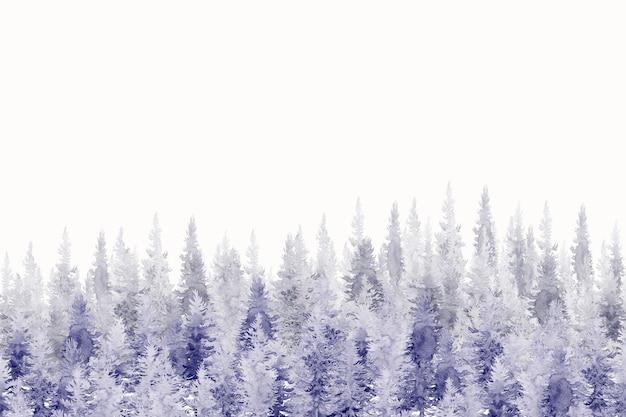 Pintura em aquarela de fundo floresta. Foto Premium