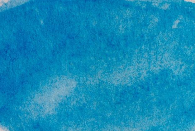 Pintura em aquarela, quadro artístico abstrato, lugar para texto ou logotipo. tom azul. Foto Premium