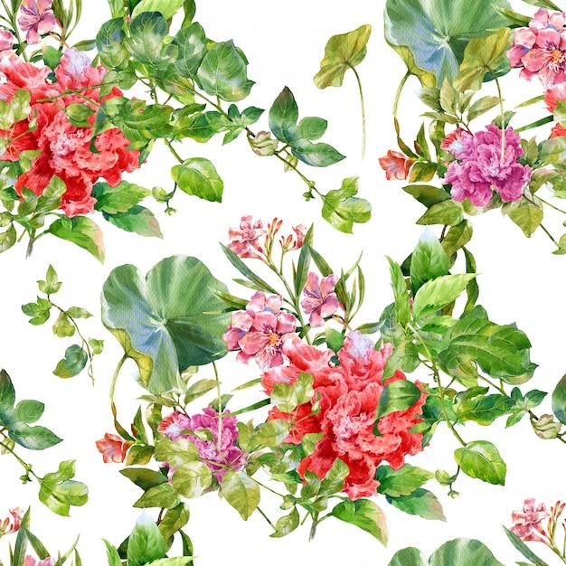 Pintura floral em aquarela Foto Premium