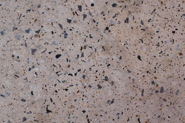 Pisos de concreto de decoração de piso de pedra de concreto com pequena rocha polida Foto Premium