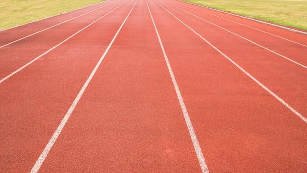 Pista de atletismo de campo de esportes Foto Premium