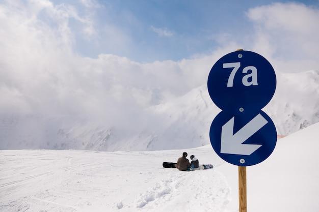 Pista de esqui nos alpes Foto Premium