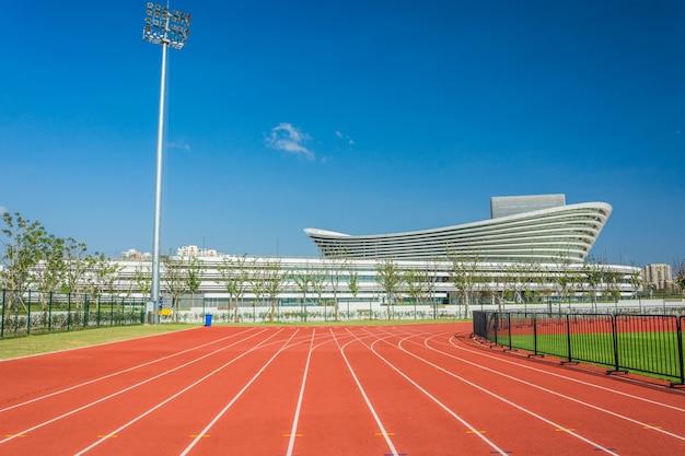 Pista de plástico para campo esportivo Foto Premium