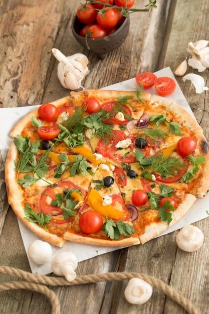 Pizza deliciosa Foto gratuita