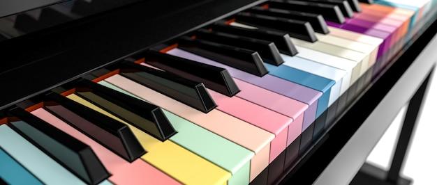 Placa chave do piano 3d Foto Premium