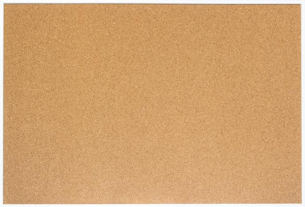 Placa de cortiça em branco com moldura de madeira branca, isolada Foto Premium