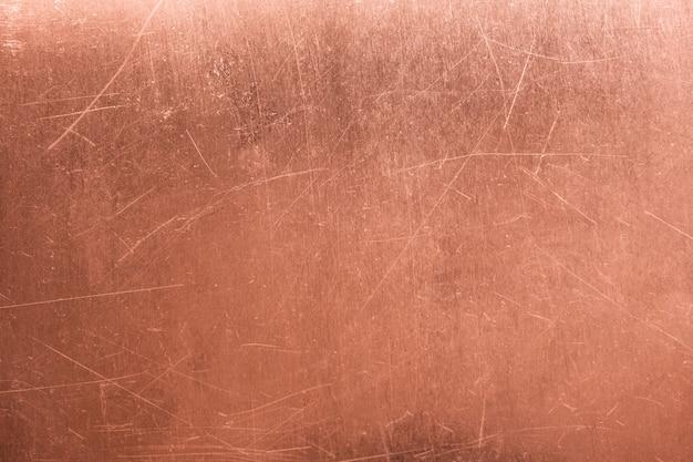 Placa de metal velha, cobre escovado textura, fundo bronze Foto Premium