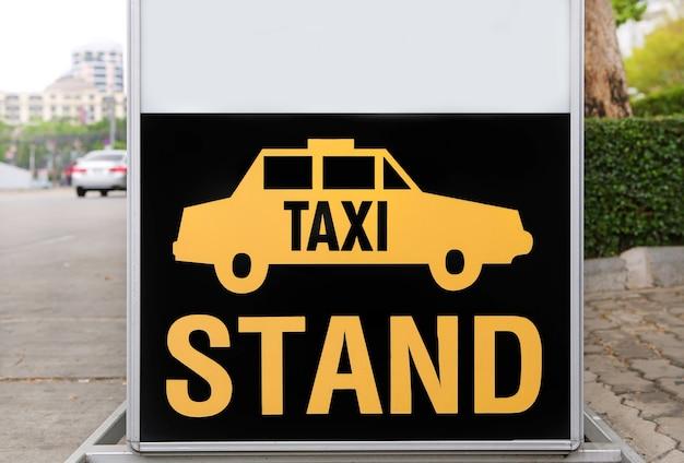 Placa de sinal de táxi Foto Premium