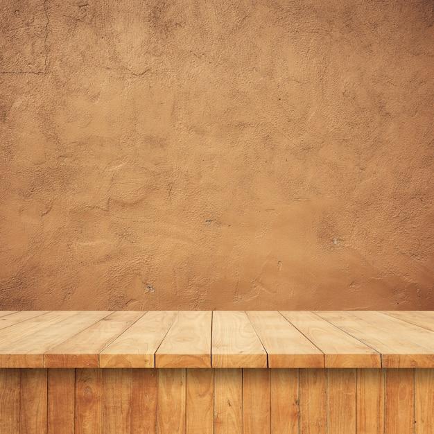 Placas de madeira com um fundo conglomerado Foto gratuita