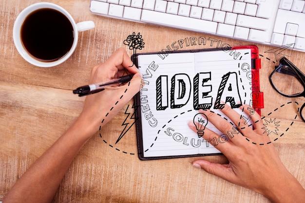 Planear e escrever sobre mídia social Foto gratuita