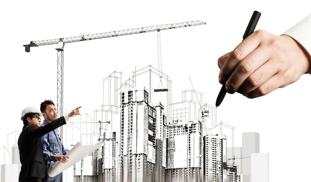 Planejamento civil e desenvolvimento imobiliário Foto Premium