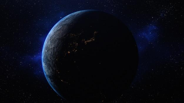 Planeta terra no espaço Foto Premium