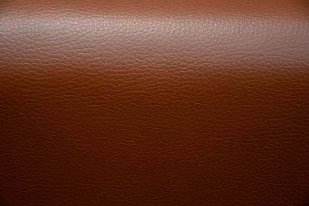 Plano aproximado de fundo de couro marrom natural Foto Premium