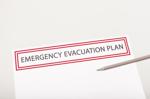 Plano de evacuação de emergência Foto Premium