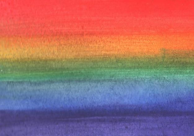 Plano de fundo multicolorido arco-íris feito em aquarela. bandeira lgbt. ilustração Foto Premium