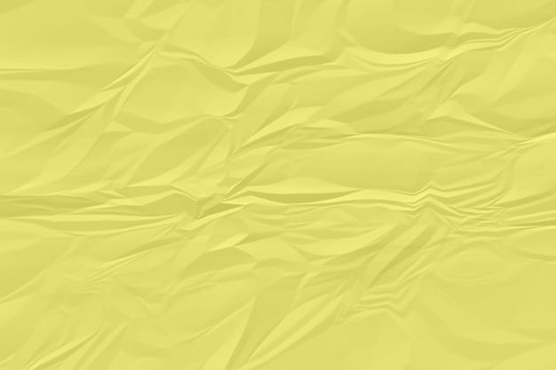 Plano de fundo papel amassado amarelo acima Foto Premium
