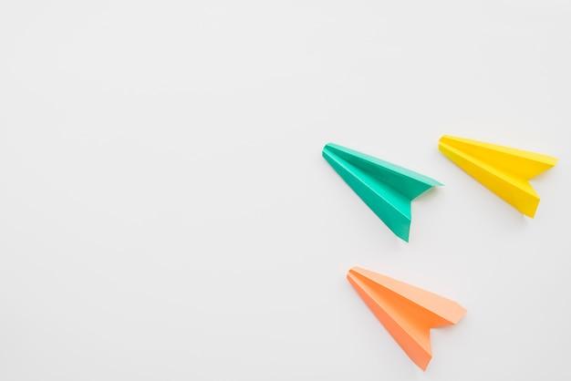 Planos coloridos de origami Foto Premium