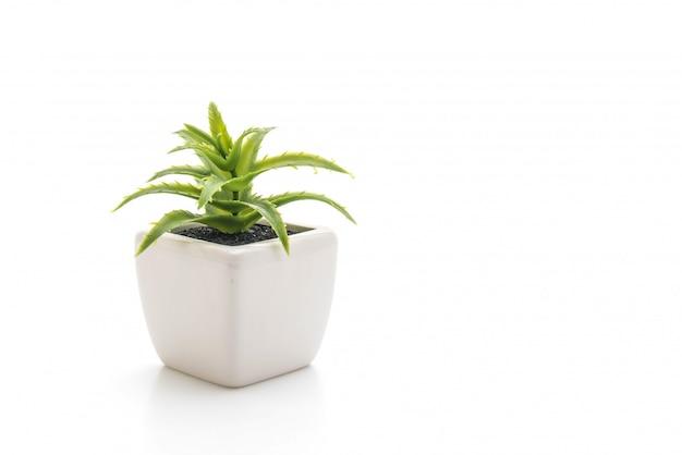 Planta de plástico em vaso Foto Premium