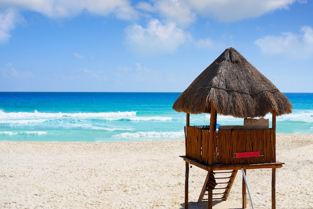 Playa marlin em cancun beach no méxico Foto Premium