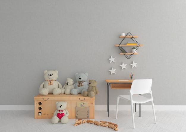 Playground na sala de berçário escandinavo Foto Premium