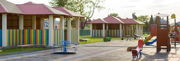 Playground no jardim de infância. Foto Premium