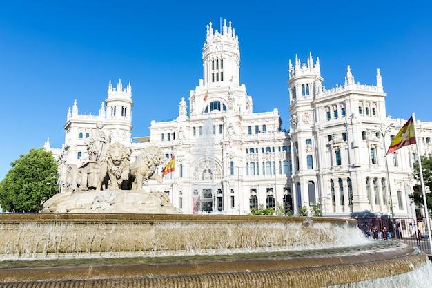 Plaza de la cibeles madrid Foto Premium