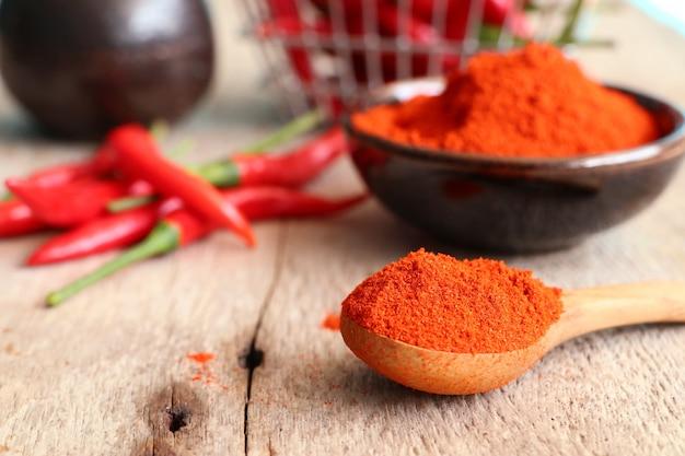 Pó de pimentão vermelho coreano Foto Premium