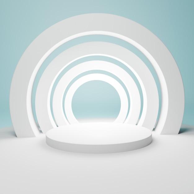 Pódio branco geométrico abstrato com arcos Foto Premium