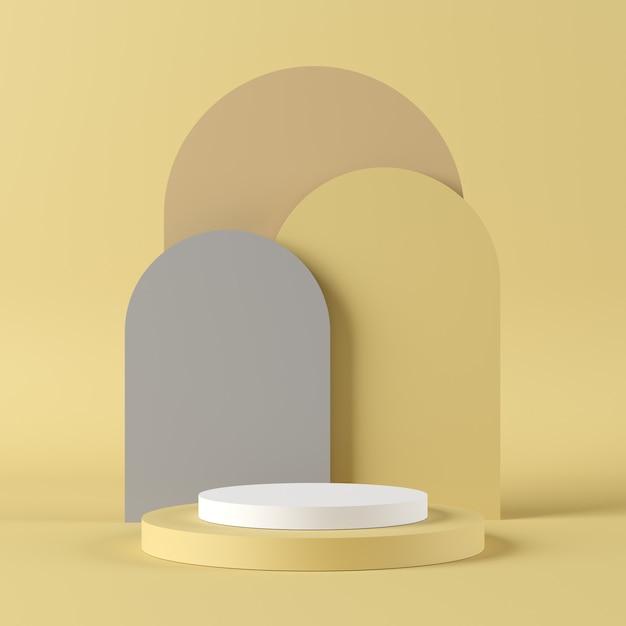 Pódio de forma geométrica para o produto. Foto Premium