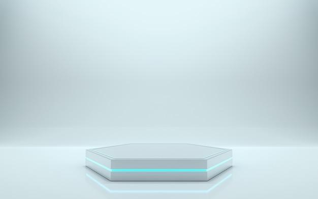 Pódio em branco para o produto. renderização 3d - ilustração Foto Premium