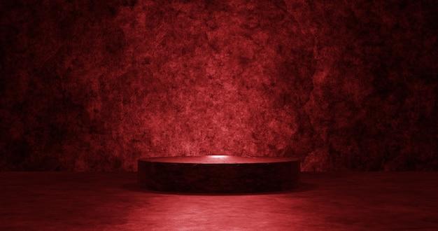 Pódio vermelho vazio para o produto de exibição. Foto Premium