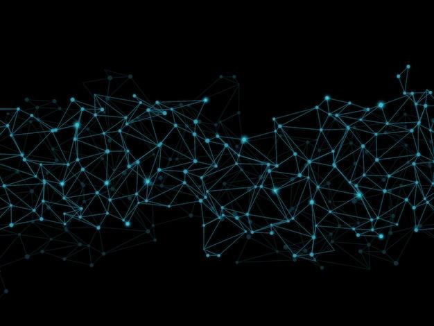 Poli baixo abstrato com linhas e pontos de conexão Foto gratuita