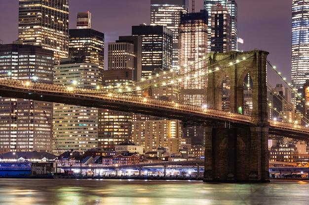 Ponte do brooklyn, nova iorque Foto Premium