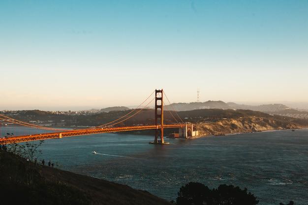 Ponte golden gate, em, são francisco Foto Premium