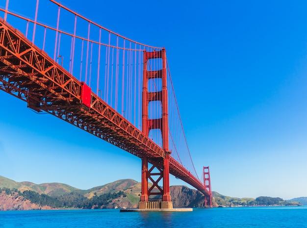Ponte golden gate, são francisco, de, presidio, califórnia Foto Premium