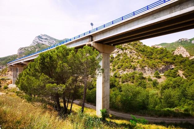 Pontes rodoviárias nas montanhas Foto gratuita
