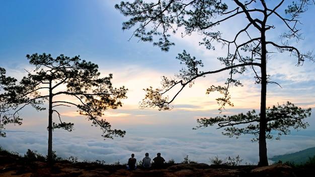 Ponto de vista no parque nacional da tailândia Foto Premium