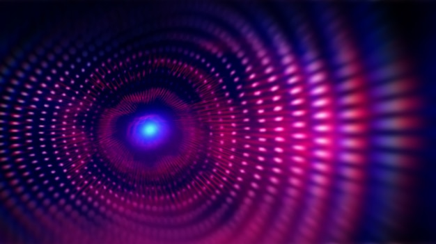 Pontos de onda de grade fractal. Foto Premium