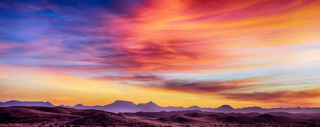 Pôr do sol em áfrica Foto Premium