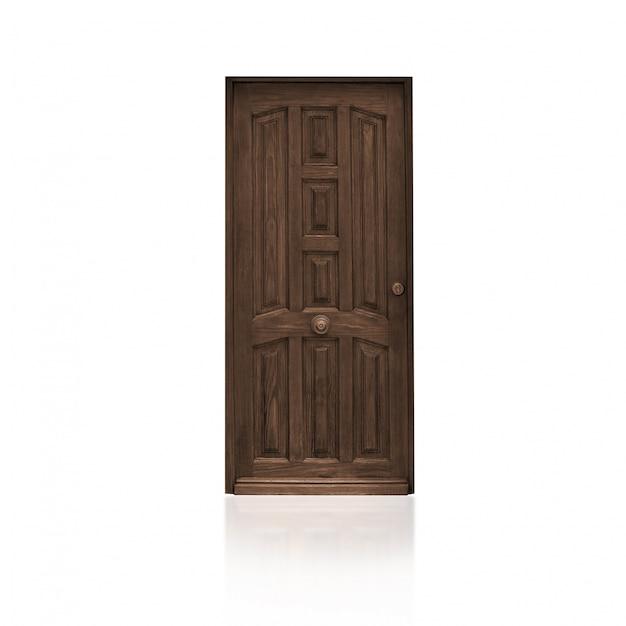 Porta de madeira marrom Foto gratuita
