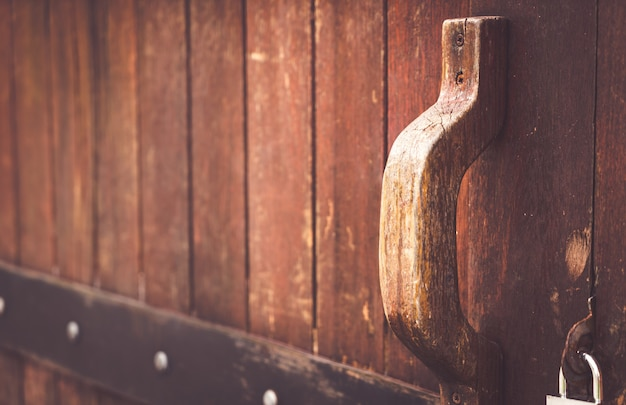 Porta de madeira velha Foto Premium