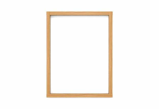 Porta-retrato de madeira moderna vertical simples vazia estilo clássico Foto Premium