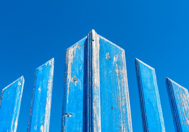 Portão azul grunge Foto Premium