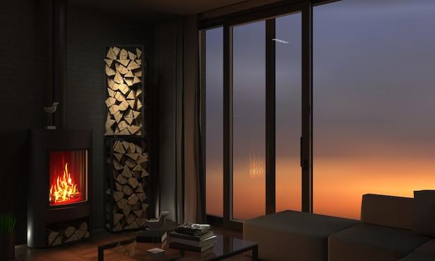 Portas e janelas corrediças inpanoramic Foto Premium