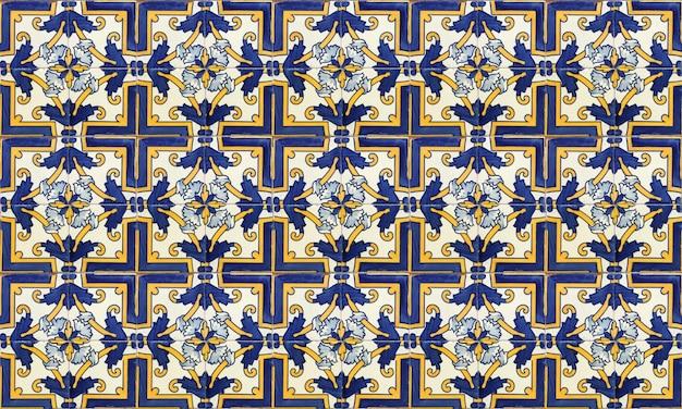 Portugal sem costura ou fundo de telha azulejo espanha Foto Premium