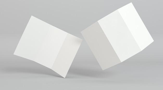 Posição abstrata do modelo de impressão de folheto com três dobras Foto gratuita