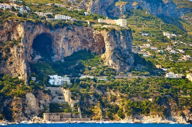 Positano, costa amalfitana, campania, itália. Foto Premium