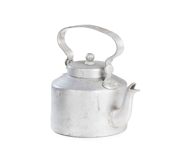 Pote de chá de prata tradicional indiana desi Foto Premium
